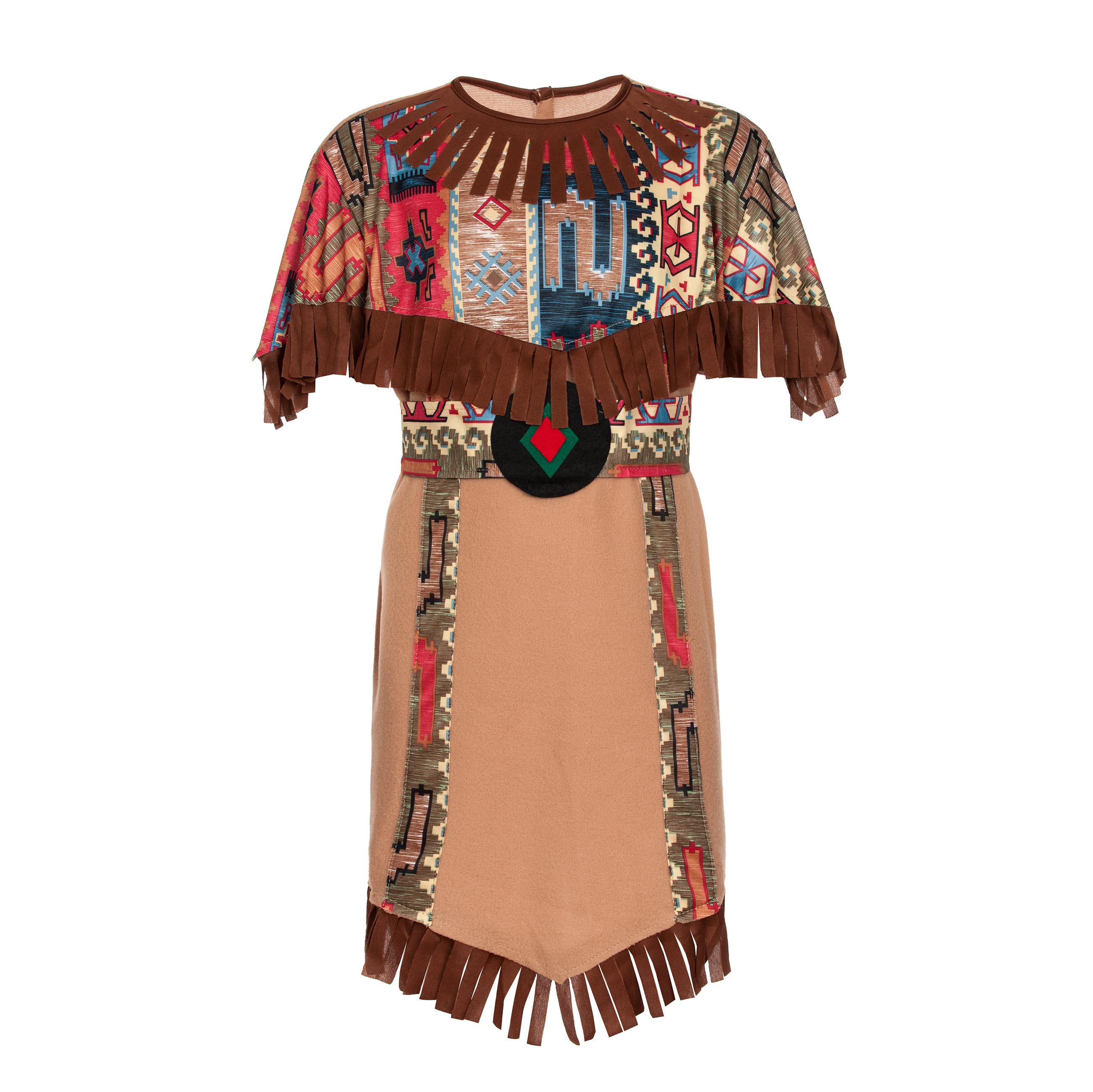 indianerin kost m stirnband indianer kost m m dchen 116 128 140 152 ebay. Black Bedroom Furniture Sets. Home Design Ideas