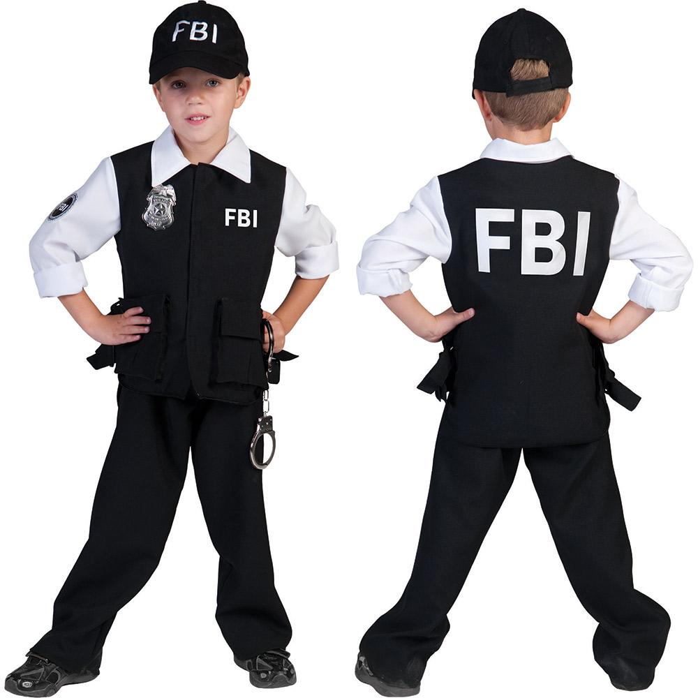 fbi agent kost m kinder jungen polizei kost m polizist neu gr e 116 128 140 152 ebay. Black Bedroom Furniture Sets. Home Design Ideas