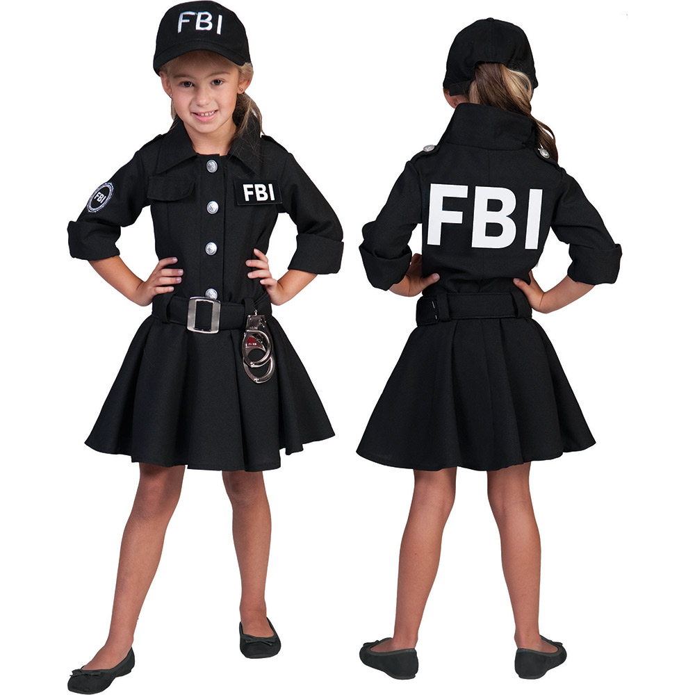 fbi agentin kinder m dchen polizei kost m polizistin neu. Black Bedroom Furniture Sets. Home Design Ideas