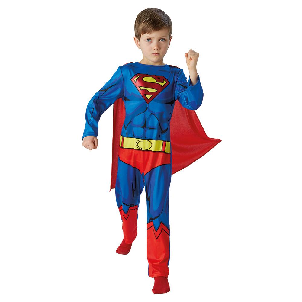 superman kost m kinder fasching supermankost m jungen 104 110 116 122 128 140 ebay. Black Bedroom Furniture Sets. Home Design Ideas