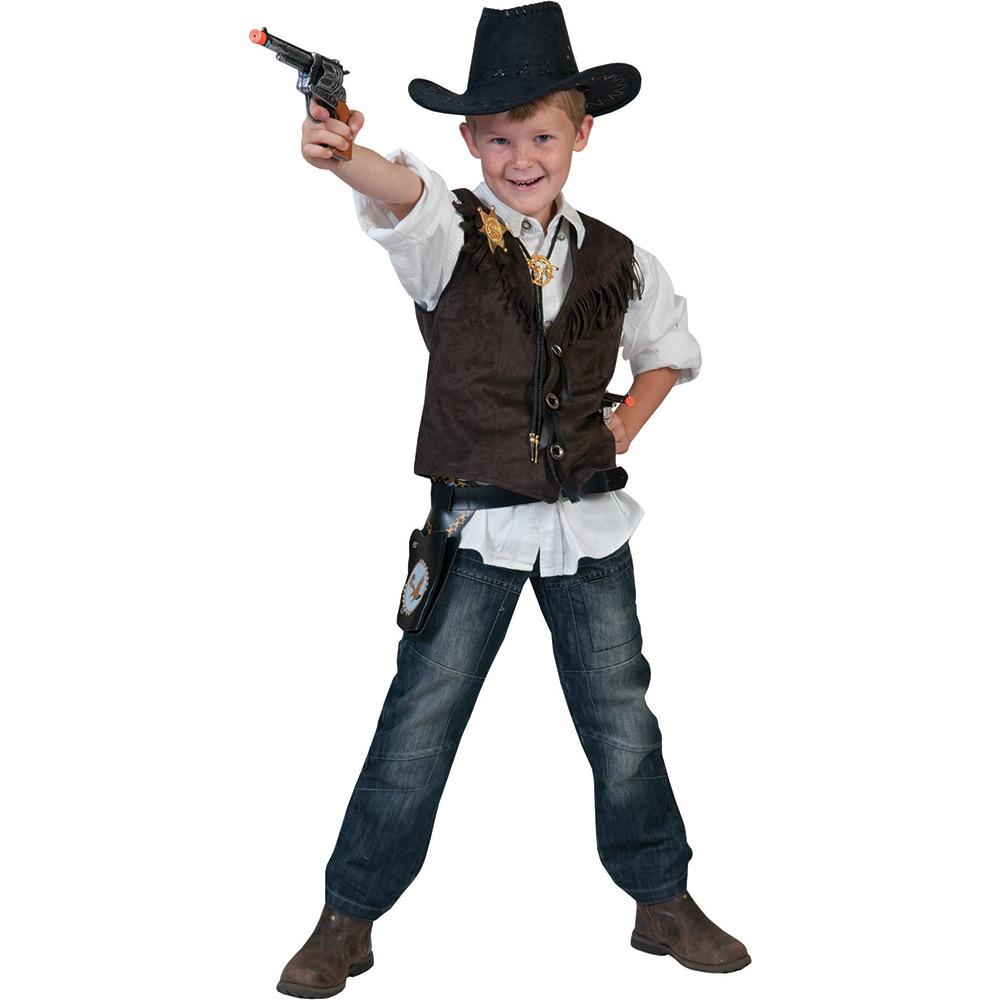 cowboy kost m kinder jungen cowboy weste cowboykost m fasching neu 116 140 164 ebay. Black Bedroom Furniture Sets. Home Design Ideas