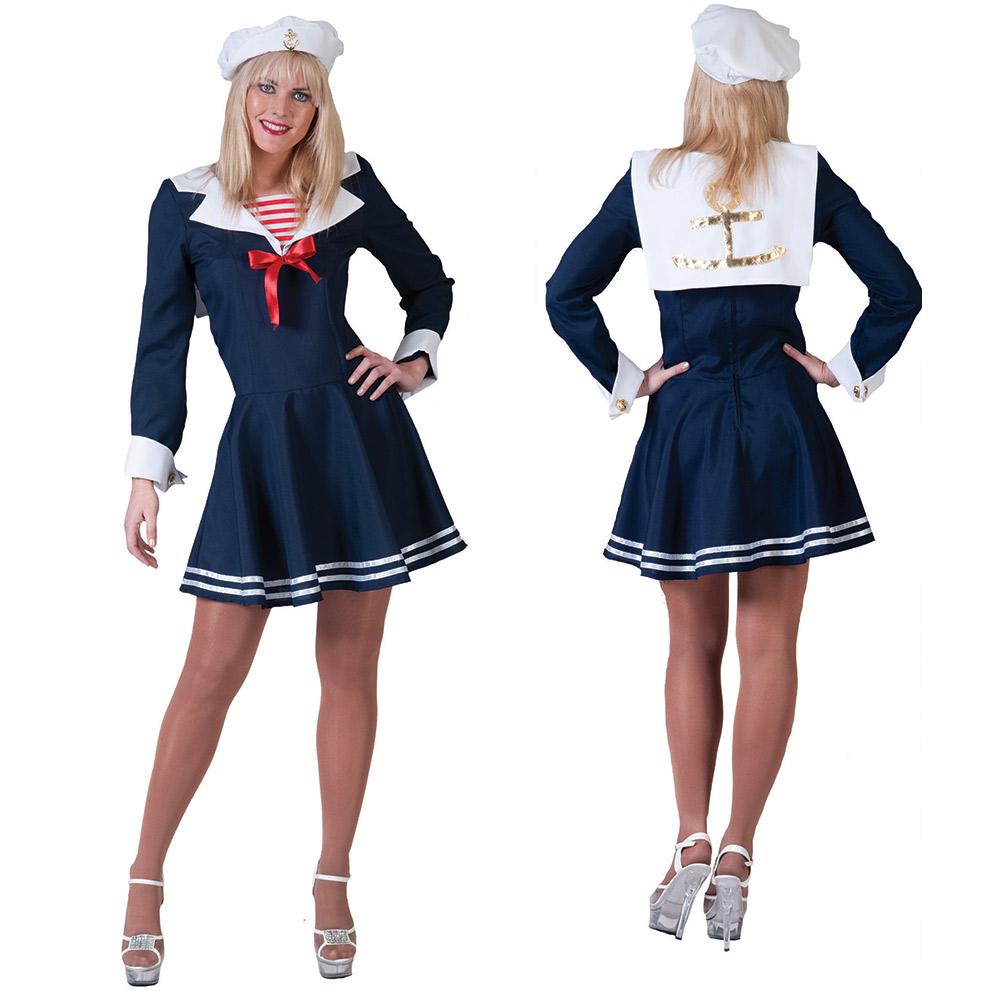 matrosin kost m damen matrosenkost m uniform faschingskost m 36 38 40 42 44 46 ebay. Black Bedroom Furniture Sets. Home Design Ideas