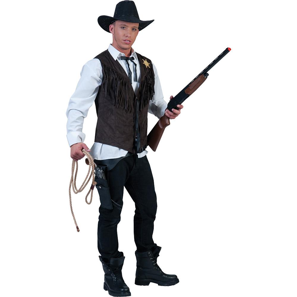 cowboy kost m herren cowboykost m sheriff weste herren. Black Bedroom Furniture Sets. Home Design Ideas