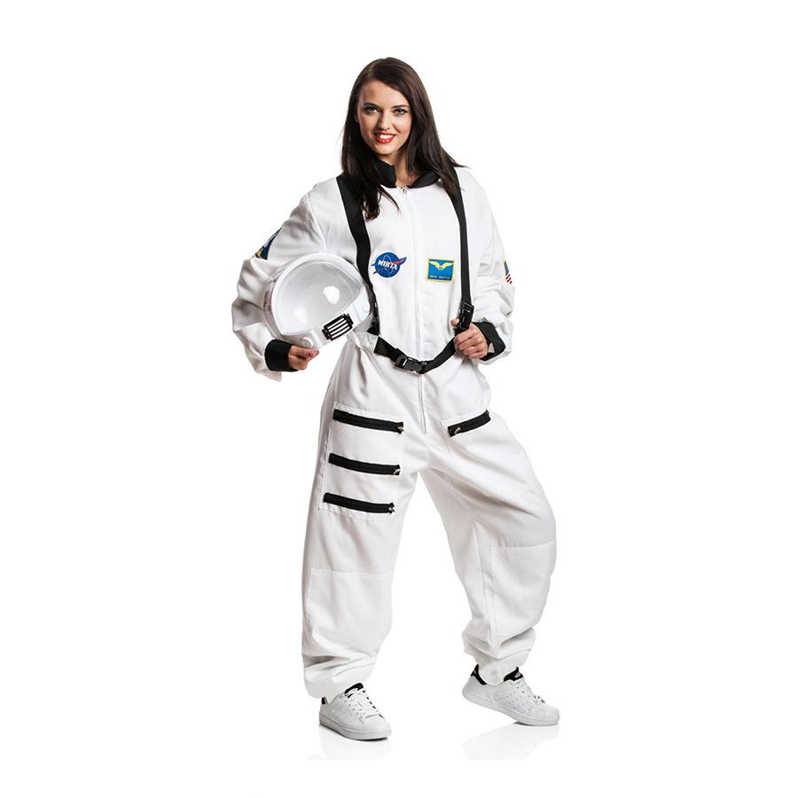 astronauten kost m damen astronautin weltraum kost m astronaut wei gr e s m l ebay. Black Bedroom Furniture Sets. Home Design Ideas