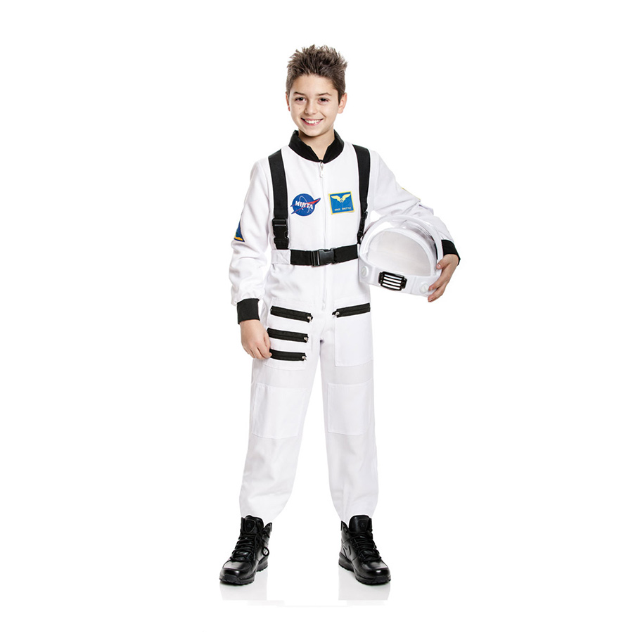 astronauten kost m kinder astronaut astronautenkost m weltraum wei 128 140 152 ebay. Black Bedroom Furniture Sets. Home Design Ideas