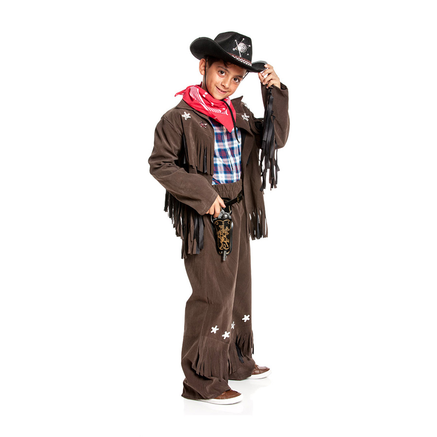 Cowboy Kostum Kinder Sheriff Jacke Cowboykostum Jungen Fasching Neu