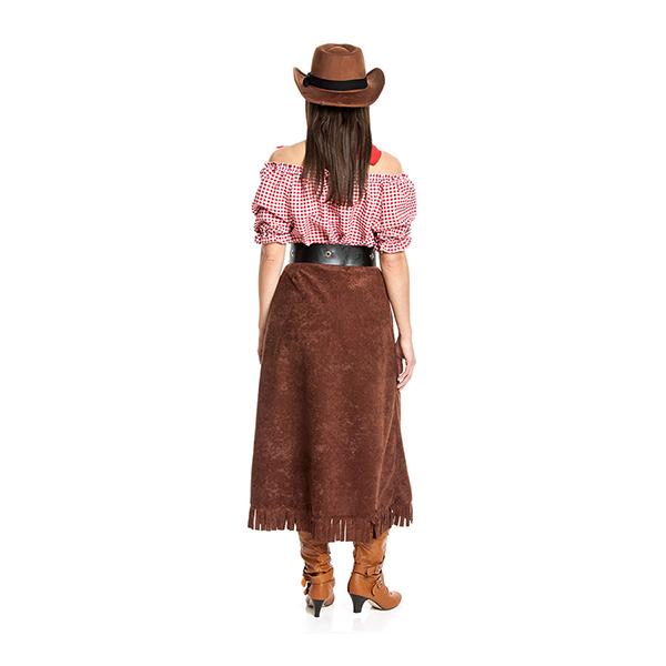 cowgirl damen kost m mit rock sexy cowboy kost m frauen faschingskost me neu. Black Bedroom Furniture Sets. Home Design Ideas