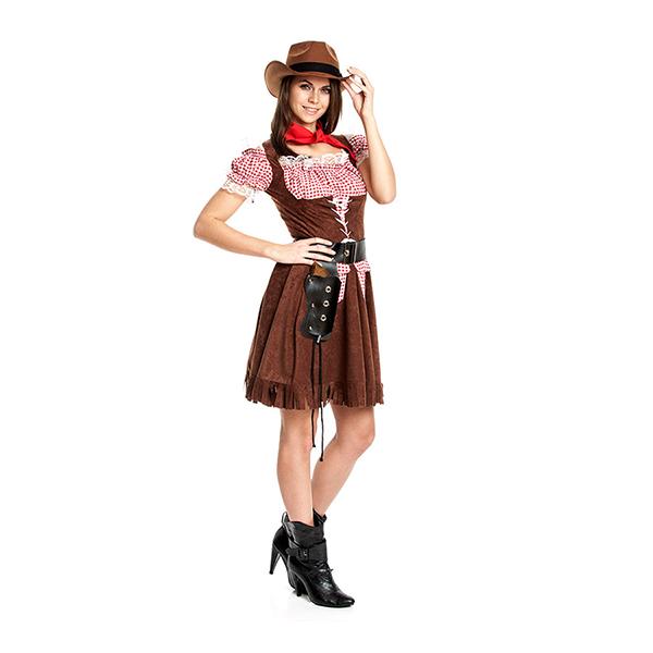 cowgirl kost m damen kost m cowboy cowgirlkost m gr 36 38 40 42 44 46 ebay. Black Bedroom Furniture Sets. Home Design Ideas