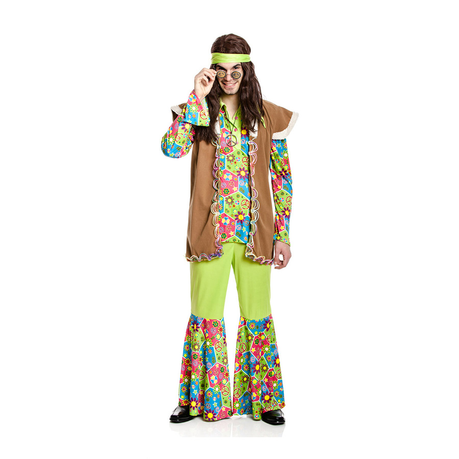 hippie weste herren kost m hippiekost m bunte hippieweste. Black Bedroom Furniture Sets. Home Design Ideas