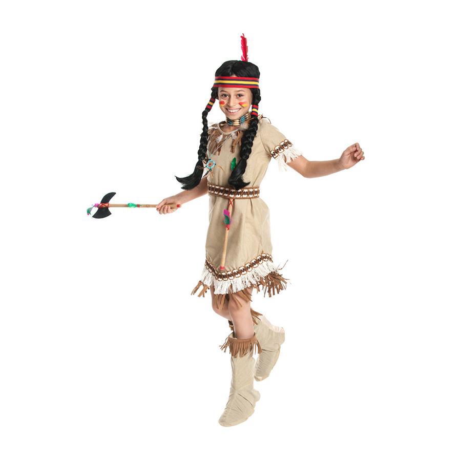 indianer kost m m dchen kinder indianerin squaw kost m kind 116 128 140 152 164. Black Bedroom Furniture Sets. Home Design Ideas