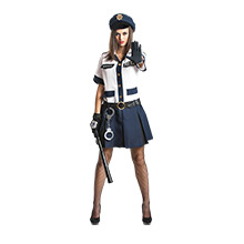 Polizistin Kostüm Damen Kacy mit Handschellen