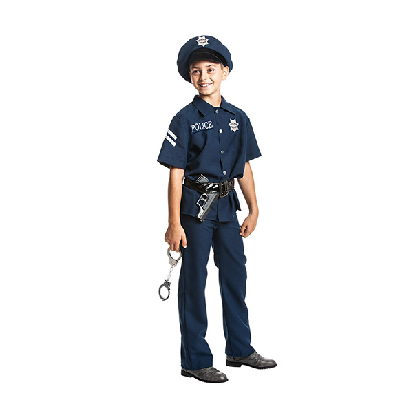 polizei kost m kinder handschellen polizeikost m kinderkost m 128 140 152 164 ebay. Black Bedroom Furniture Sets. Home Design Ideas