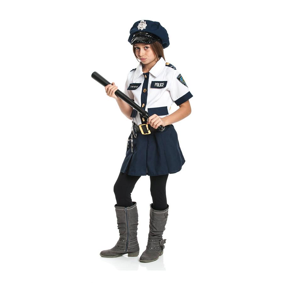polizistin kinder kost m handschellen polizei. Black Bedroom Furniture Sets. Home Design Ideas