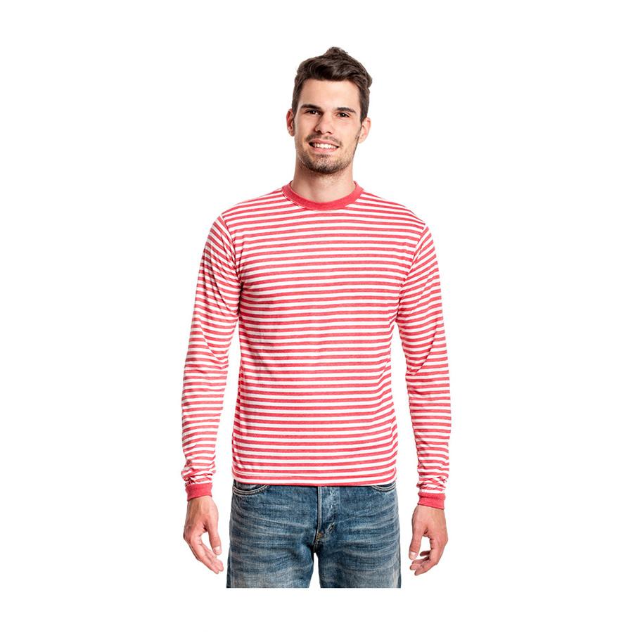 ringelshirt langarm rot wei shirt f r matrose clown kost m ringel shirt rot neu ebay. Black Bedroom Furniture Sets. Home Design Ideas
