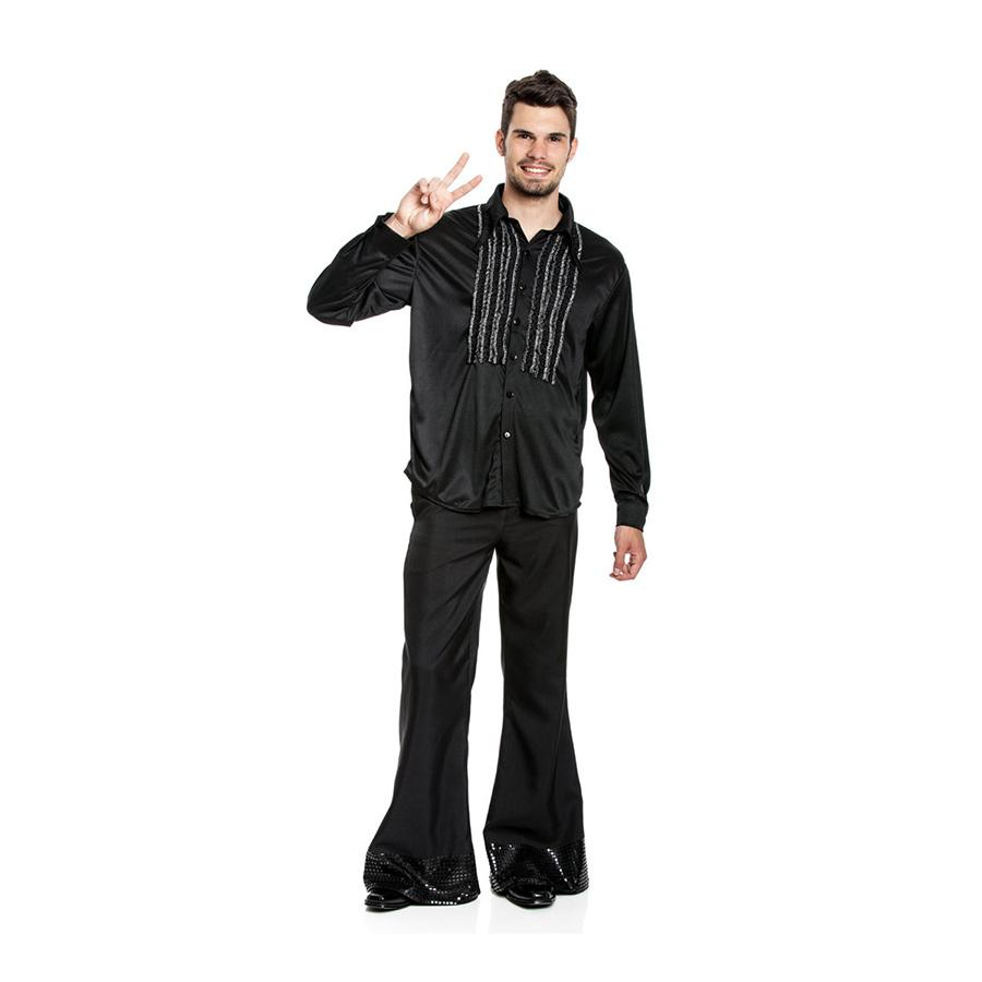 r schenhemd herren kost m disco partyhemd r schen discohemd 70er 80er motto hemd ebay. Black Bedroom Furniture Sets. Home Design Ideas