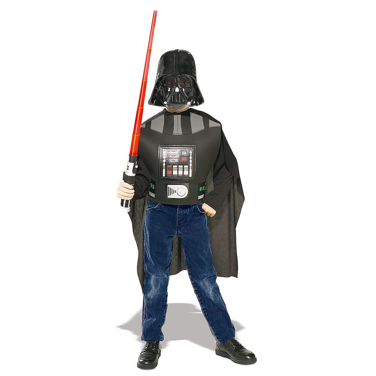 original darth vader kost m cape maske lichtschwert star wars kost m 128 140 ebay. Black Bedroom Furniture Sets. Home Design Ideas