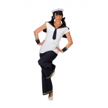 Matrosin Kostüm Maxi für Damen