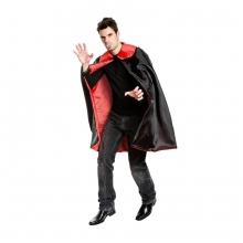 Dracula Cape Akito Umhang Kostüm Vampirkostüm mit Gebiss