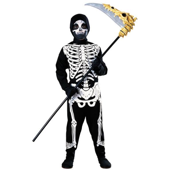 grusel geister kost m kinder geisterkost m skeleton halloween gr 122 128 140 152 ebay. Black Bedroom Furniture Sets. Home Design Ideas