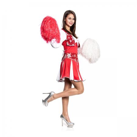 cheerleader damen kost m sexy kleid karnevalskost m kost mplanet. Black Bedroom Furniture Sets. Home Design Ideas
