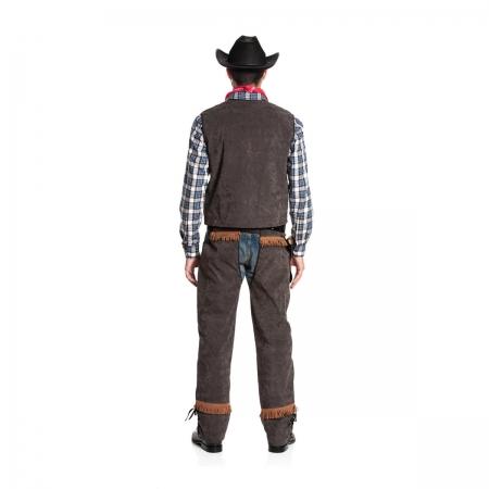 cowboy kost m herren weste mit chaps western style kost mplanet. Black Bedroom Furniture Sets. Home Design Ideas