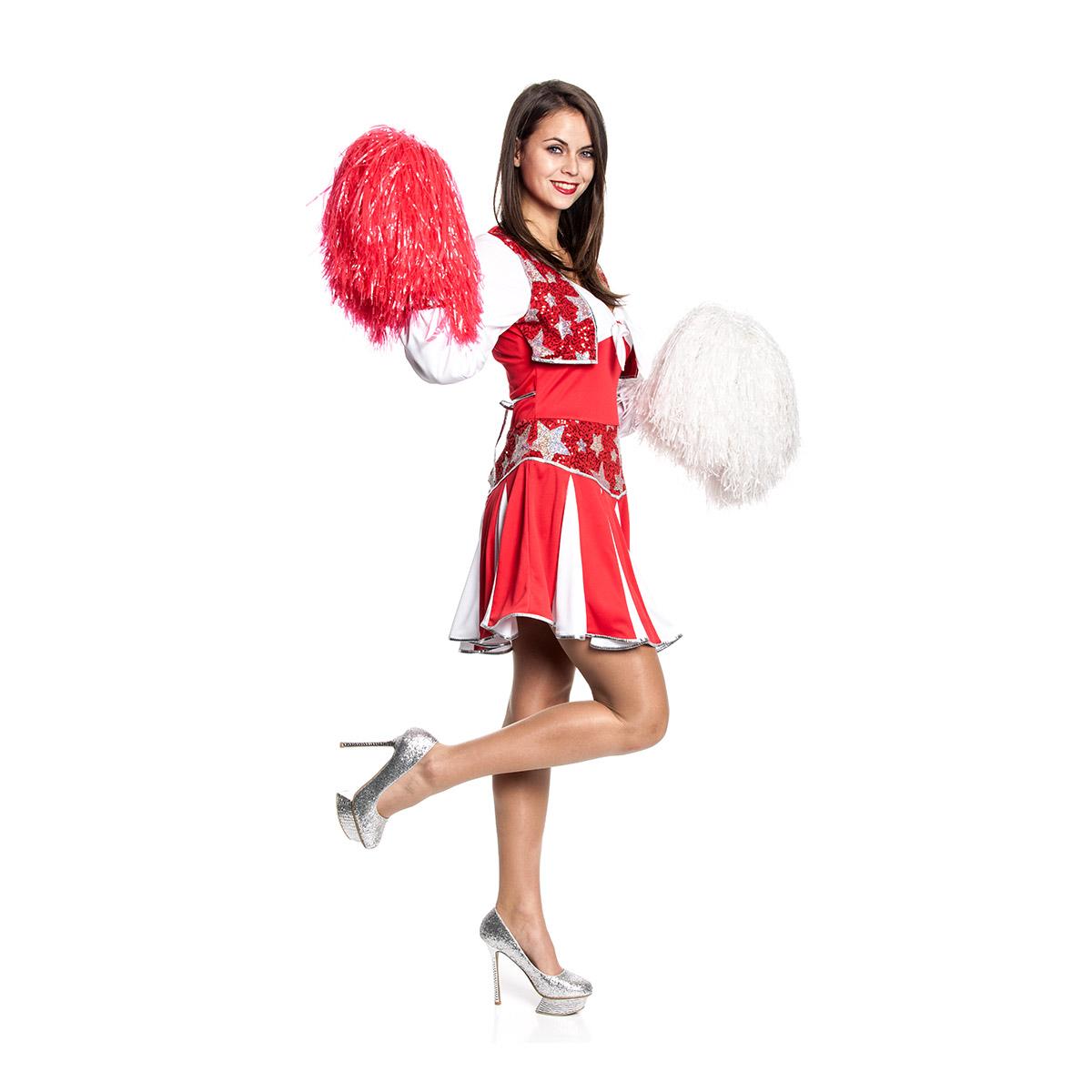 cheerleader damen kost m sexy kleid karnevalskost m. Black Bedroom Furniture Sets. Home Design Ideas
