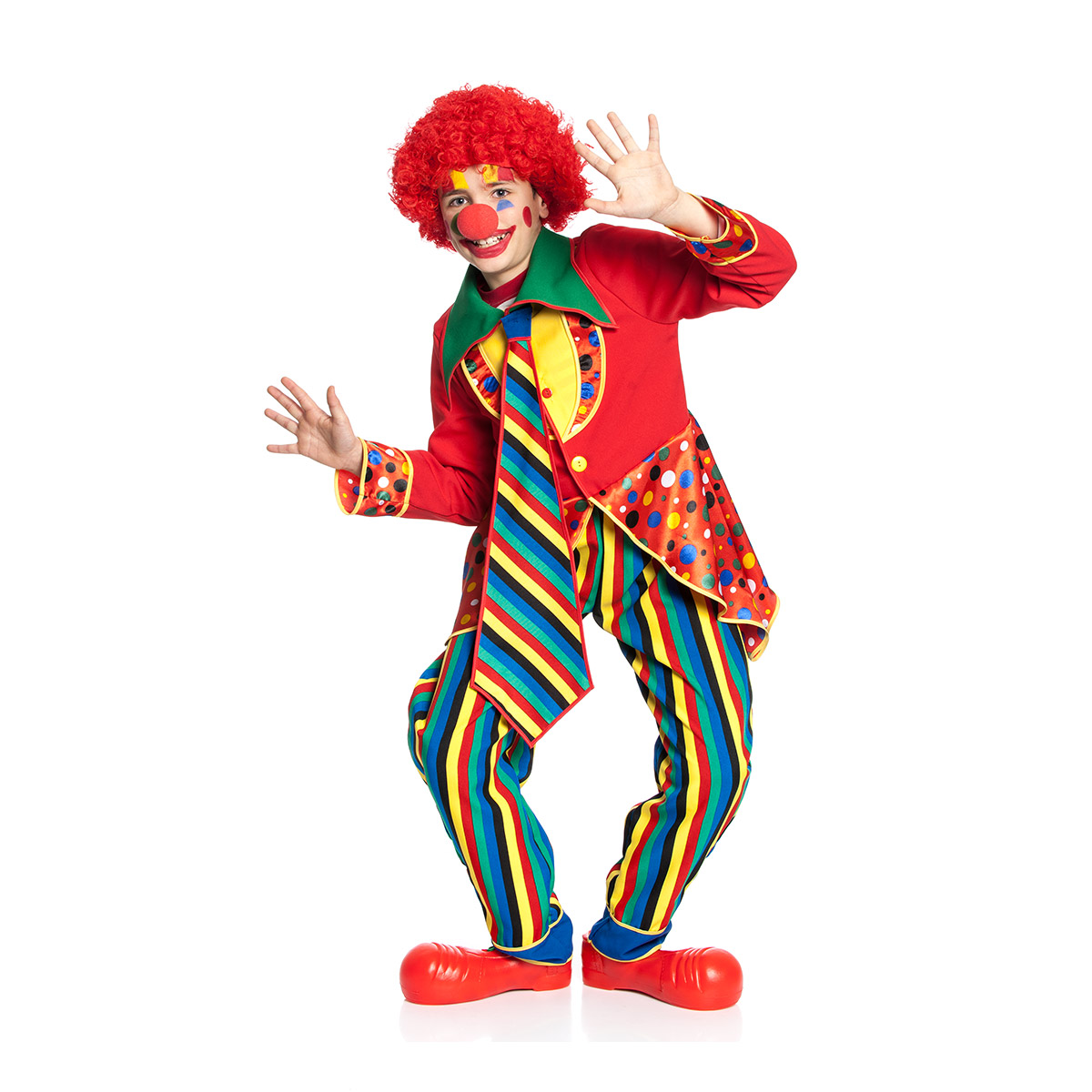 clownkost m kinder bunt komplett karneval kinderkost m kost mplanet. Black Bedroom Furniture Sets. Home Design Ideas