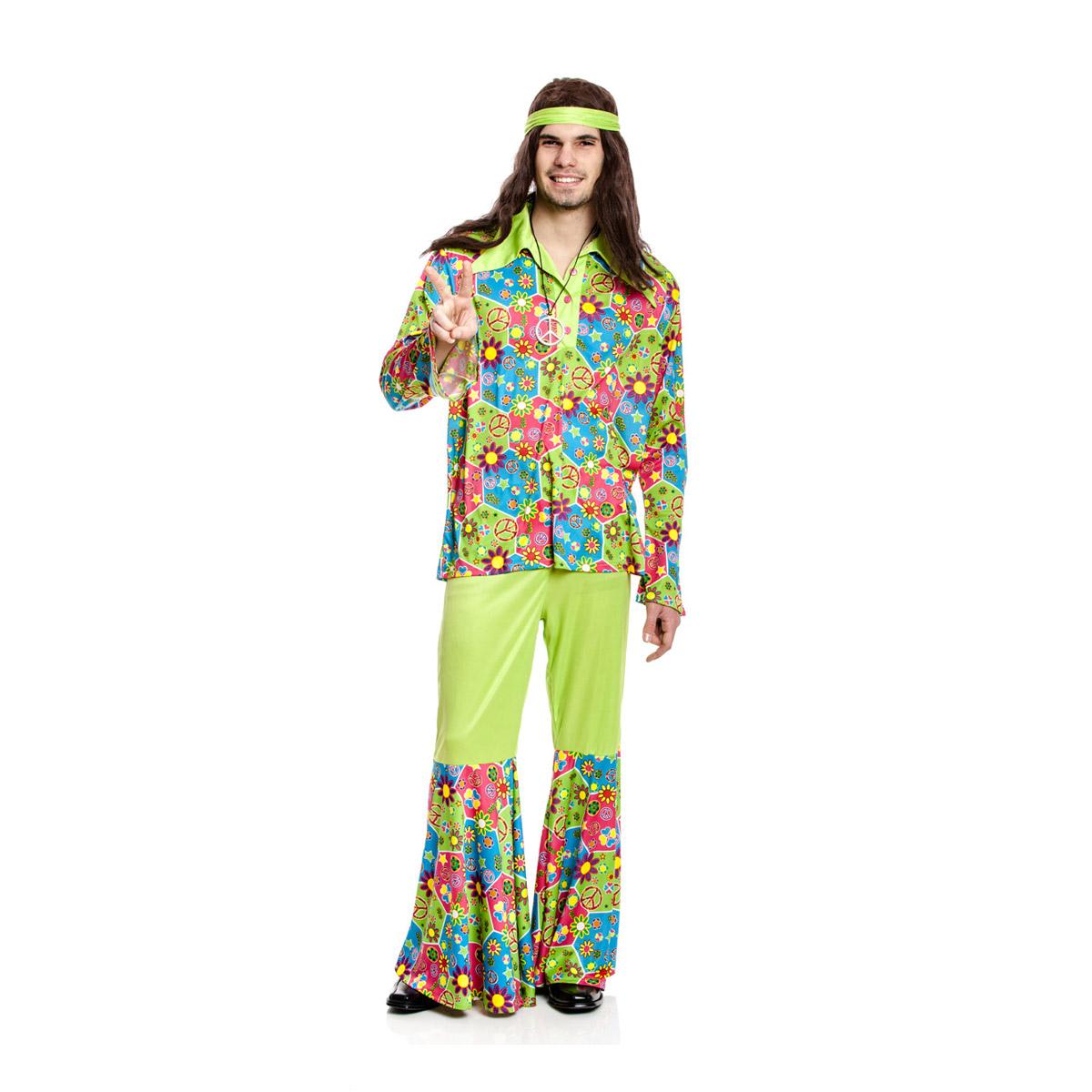 hippie kost m herren 60er jahre outfit flower power kost mplanet. Black Bedroom Furniture Sets. Home Design Ideas