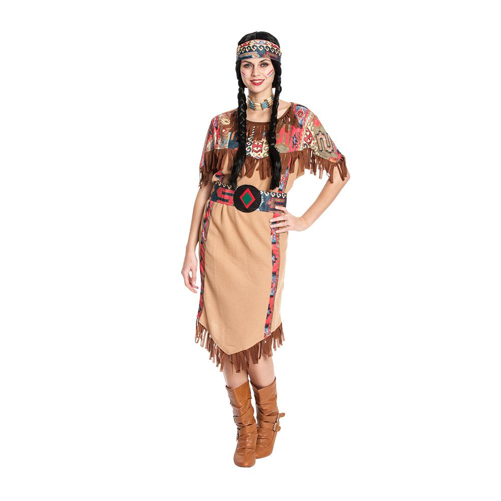 indianerin kost m damen sexy kleid mit g rtel kost mplanet. Black Bedroom Furniture Sets. Home Design Ideas
