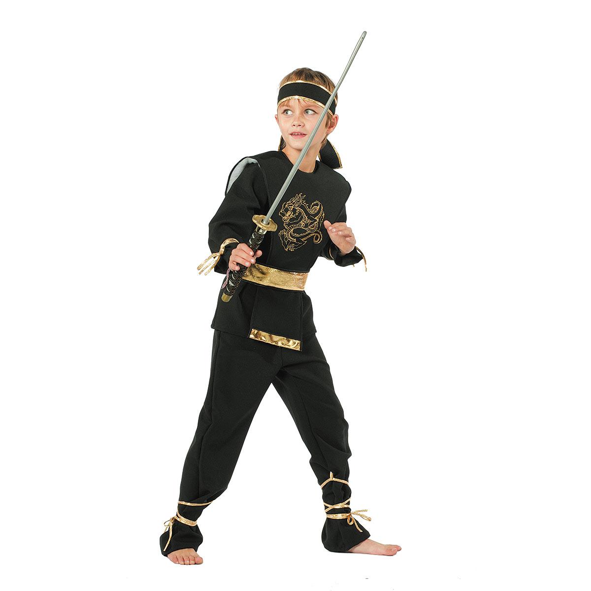 ninja kost m kinder schwarz mit drachen motiv kost mplanet. Black Bedroom Furniture Sets. Home Design Ideas