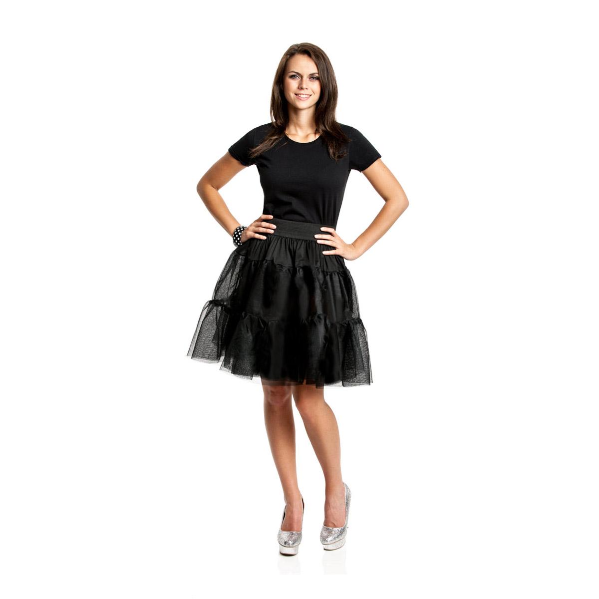 50er jahre petticoat schwarz f r damen t ll rock kost mplanet. Black Bedroom Furniture Sets. Home Design Ideas