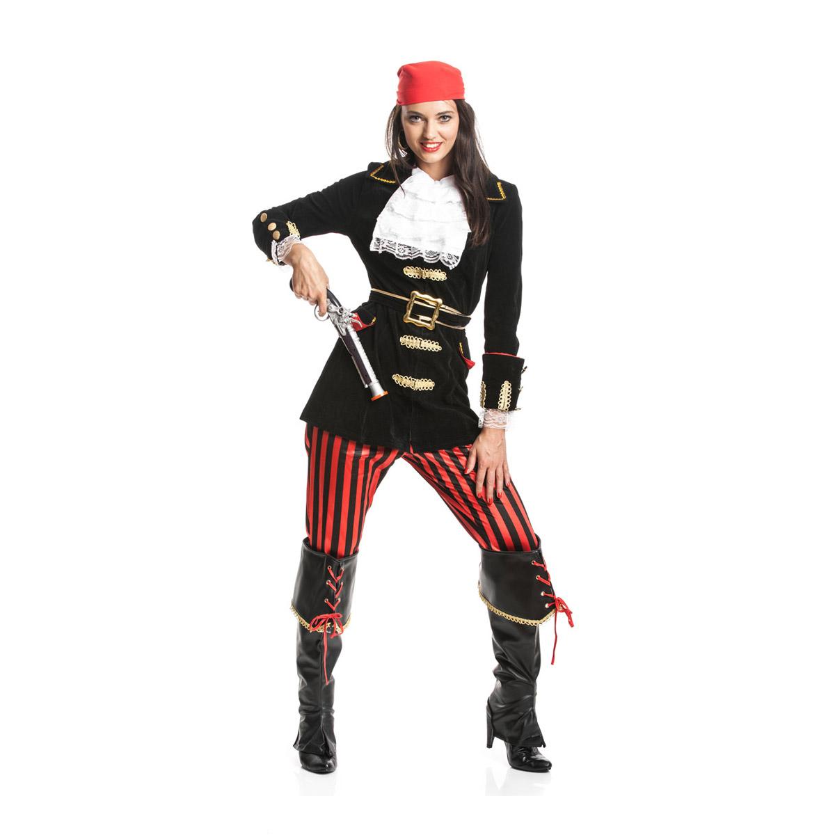 piratin kost m damen deluxe komplettes karnevalskost m kost mplanet. Black Bedroom Furniture Sets. Home Design Ideas