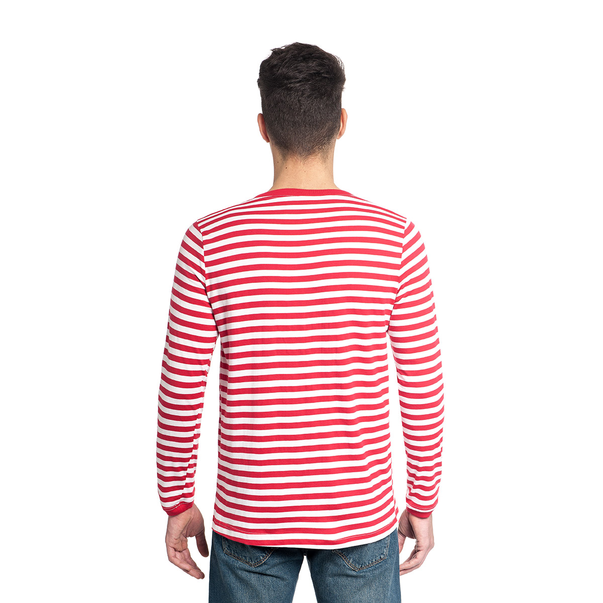 ringelshirt rot wei erwachsene clown pirat matrose kost mplanet. Black Bedroom Furniture Sets. Home Design Ideas