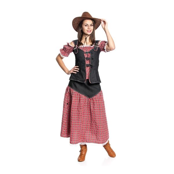 cowgirl rock lang damen karnevalskost m wilder westen kost mplanet. Black Bedroom Furniture Sets. Home Design Ideas