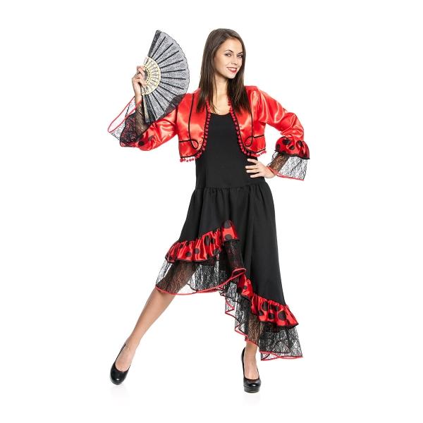 spanierin kost m flamenco kleid mit bolero hochwertig kost mplanet. Black Bedroom Furniture Sets. Home Design Ideas