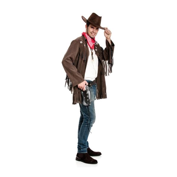 cowboy jacke herren mit halstuch g nstiges kost m. Black Bedroom Furniture Sets. Home Design Ideas