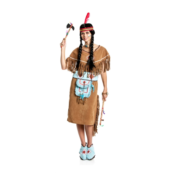 indianerin kost m damen komplett mit tasche karneval kost mplanet. Black Bedroom Furniture Sets. Home Design Ideas