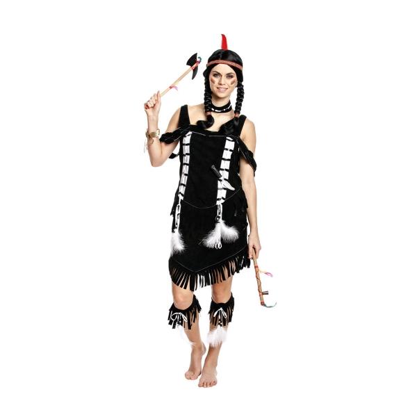 indianerin kost m damen squaw kleid kost mplanet. Black Bedroom Furniture Sets. Home Design Ideas