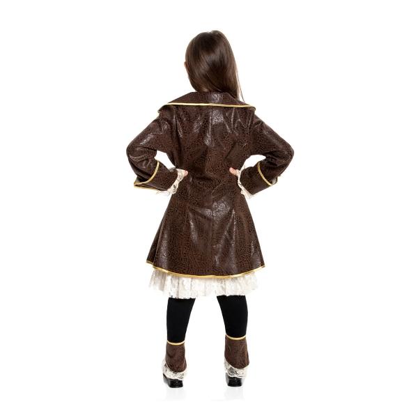 piraten kost m kinder m dchen piratin kleid mit mantel. Black Bedroom Furniture Sets. Home Design Ideas