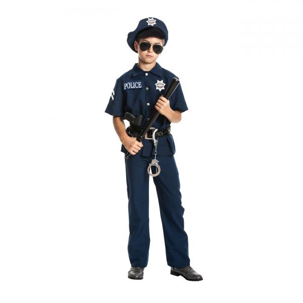 polizei kost m kinder komplett mit m tze und zubeh r kost mplanet. Black Bedroom Furniture Sets. Home Design Ideas
