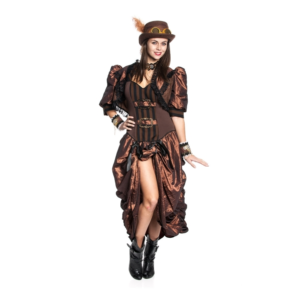 steampunk kost m kleid deluxe f r damen sehr hochwertig