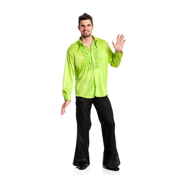 Rüschenhemd Herren grün 52-54