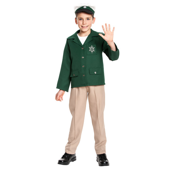 Polizist Jungen grün 128