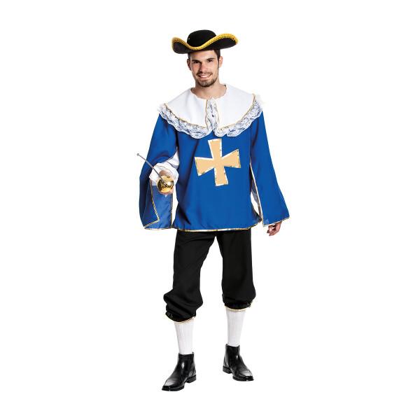 musketier kostüm herren blau