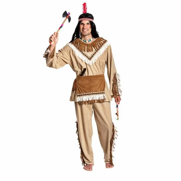 indianer kostüm herren beige