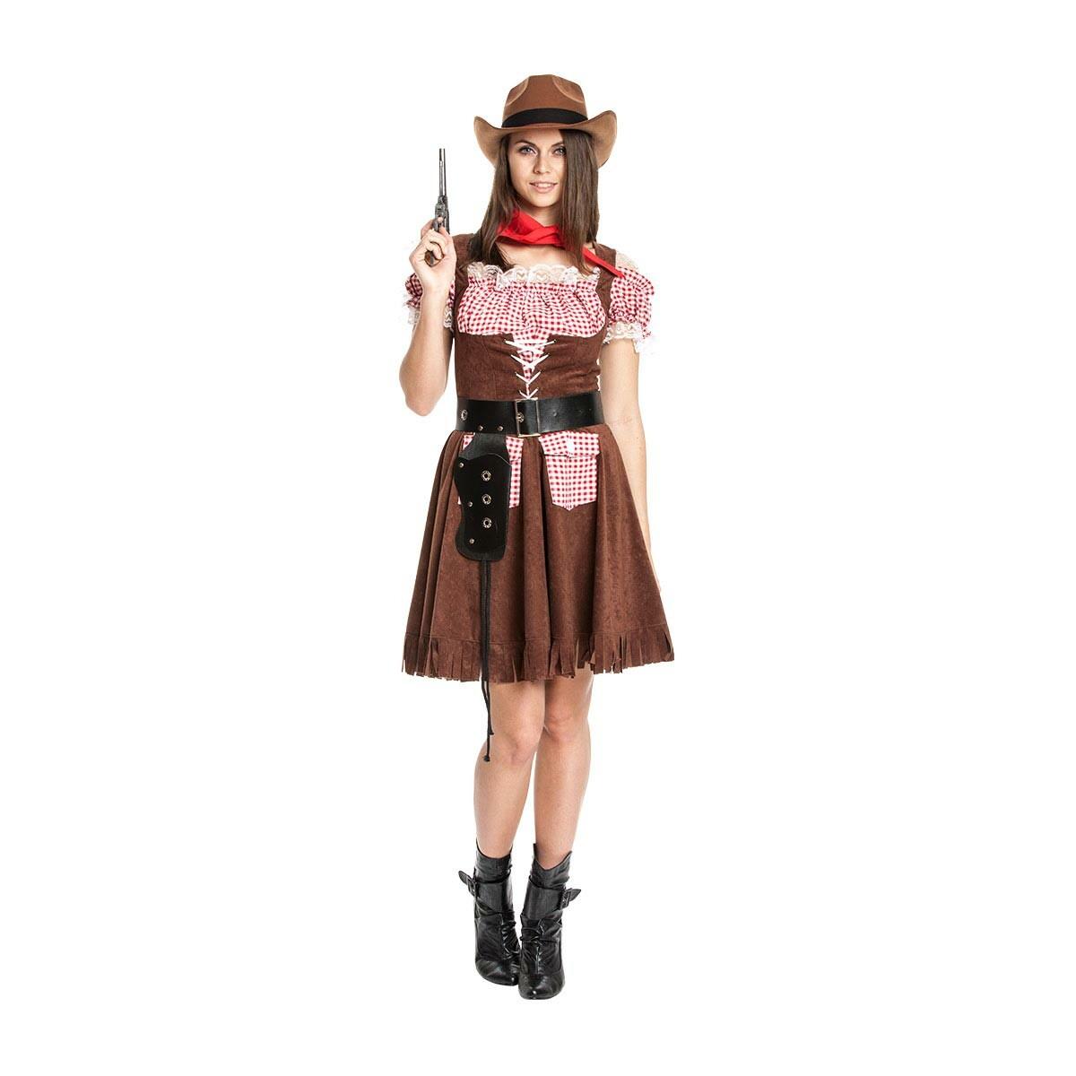 Cowgirl Kostum Damen Sexy Cowboy Komplett Mit Halstuch