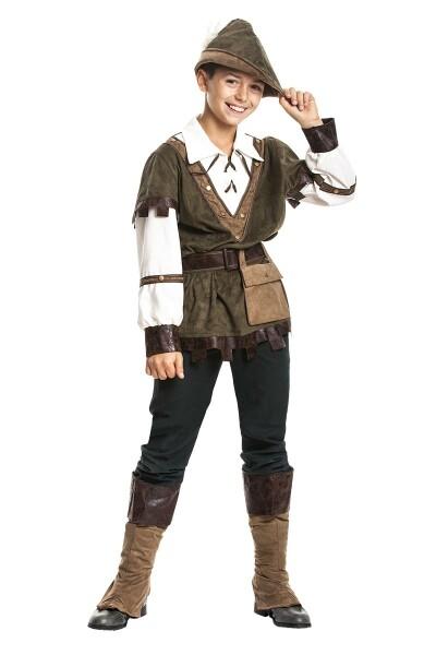 Robin Hood Kostum Kinder Jungen Komplett Mit Mutze Kostumplanet