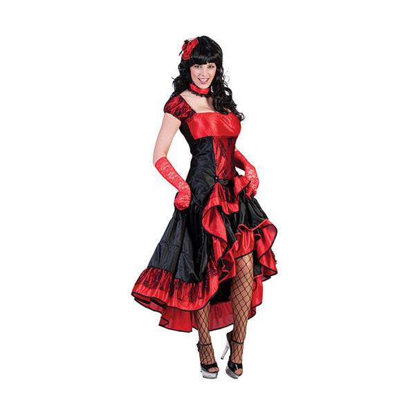 Saloon Girl Damen rot 52-54