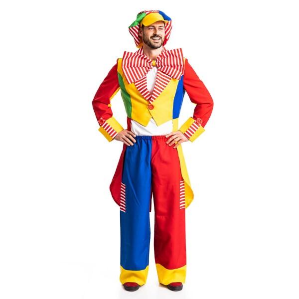 Clown Herren bunt 68-70