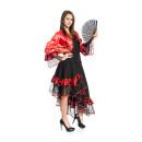 Spanierin Damen rot-schwarz 46